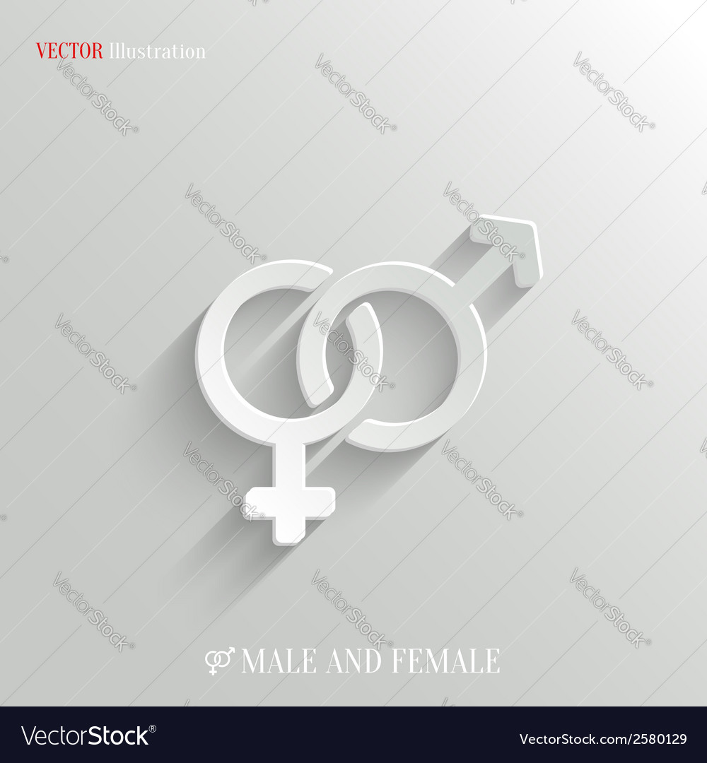 Male and female icon - white app button