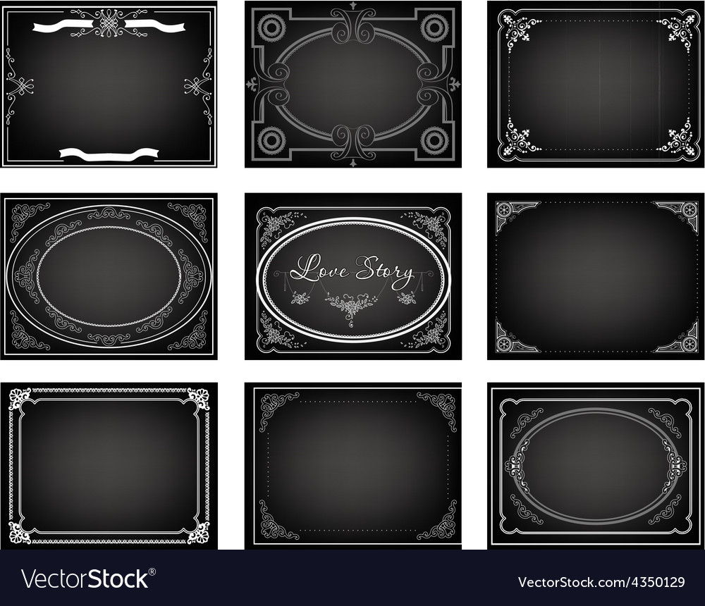 Set old movie frames Royalty Free Vector Image