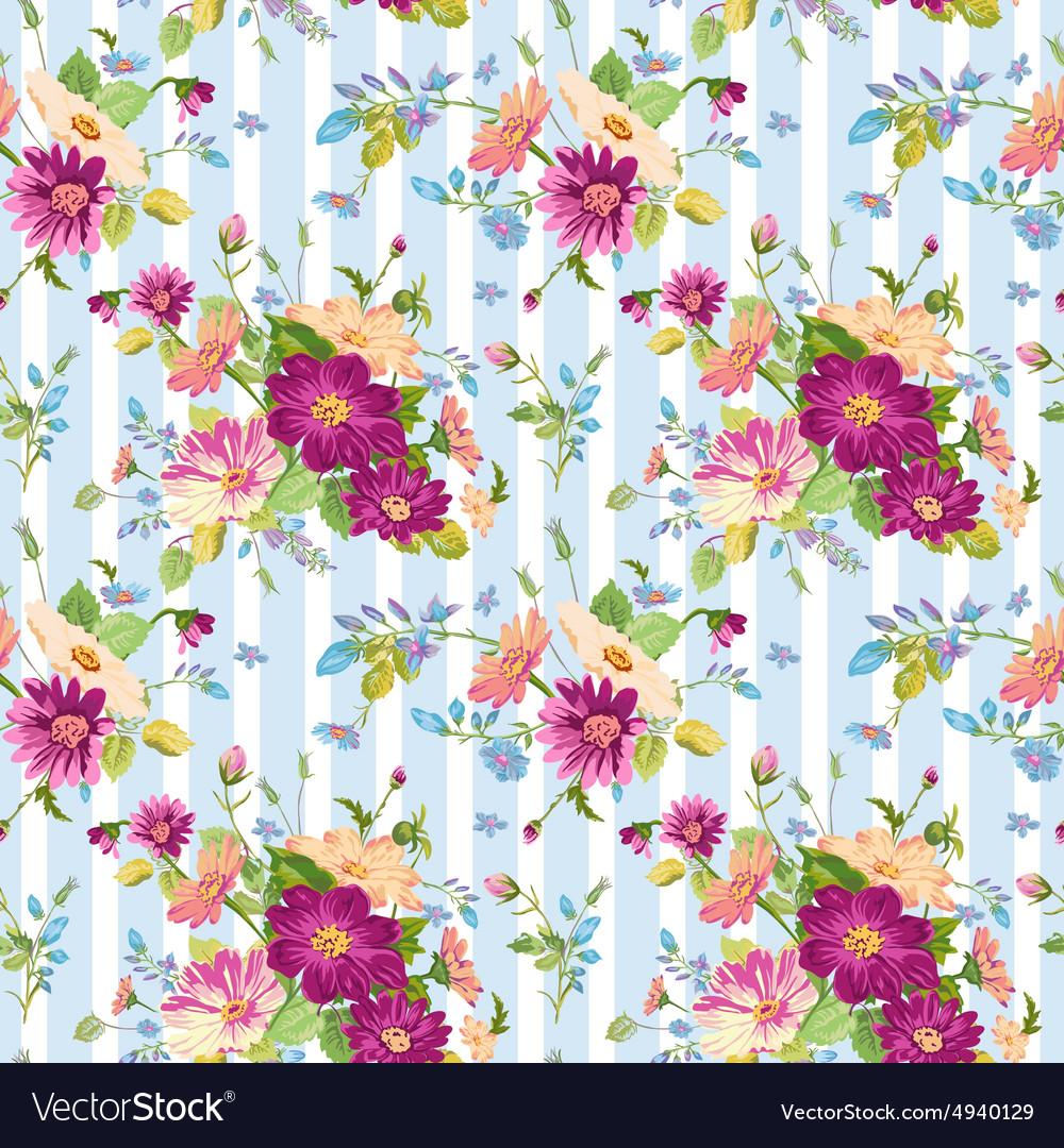 Vintage Floral Background Royalty Free Vector Image