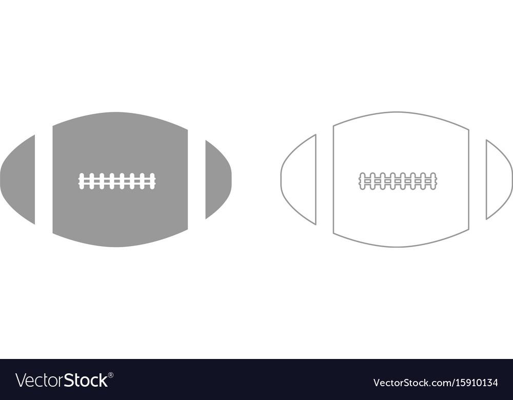 American football ball set icon vector image