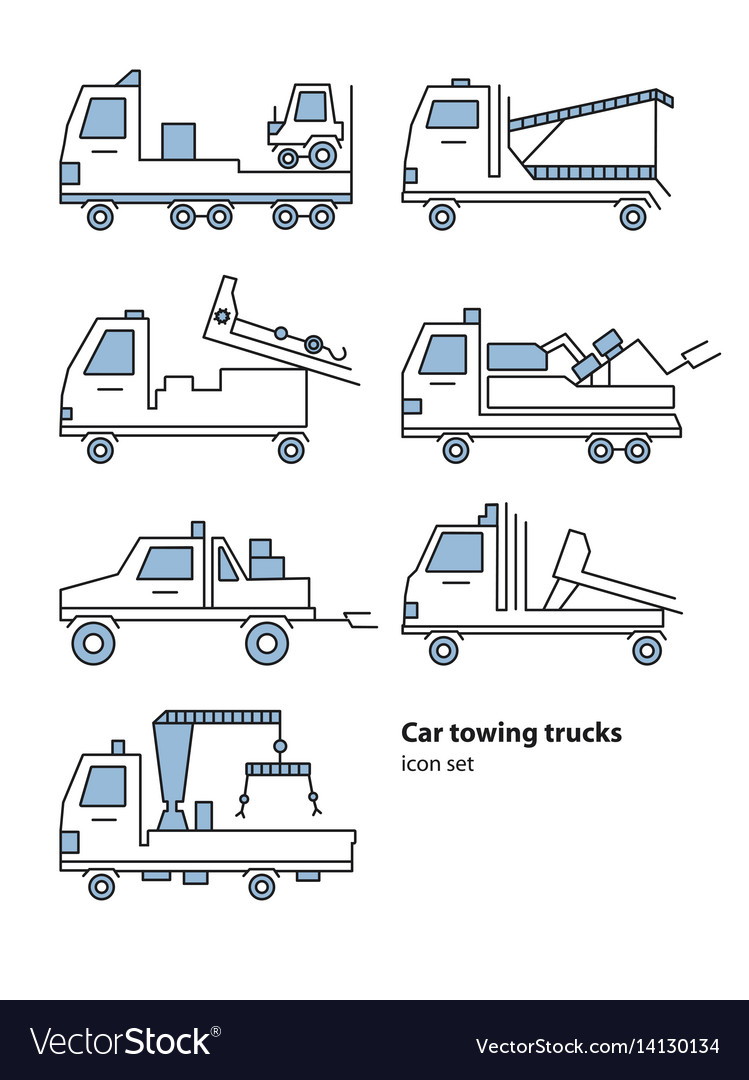 Car towing truck roadside assistance