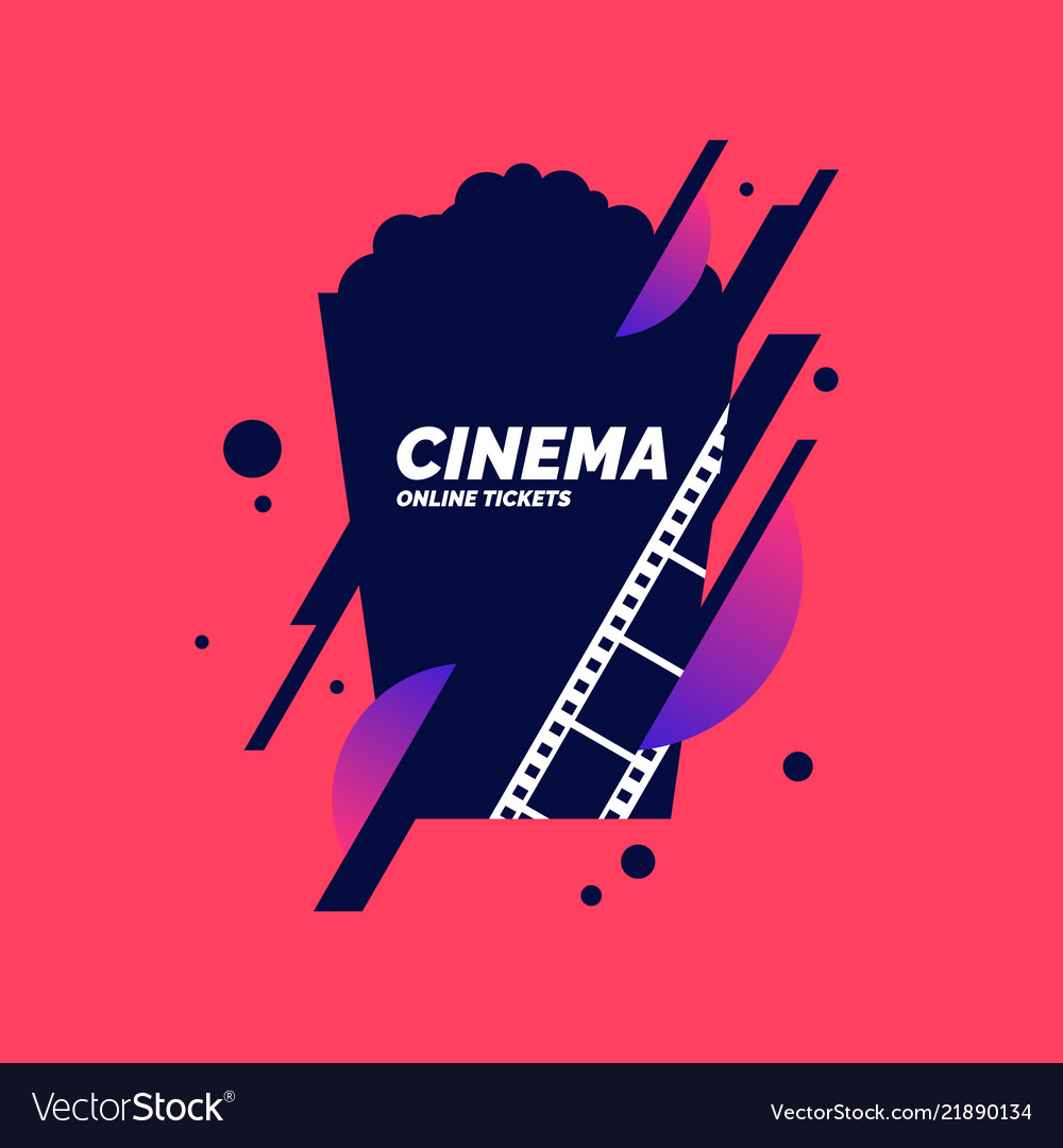 Colorful poster cinema in