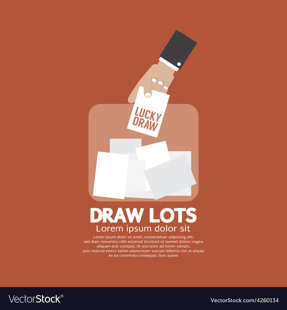 Draw Lots Risk Taking Concept Royalty Free Vector Image