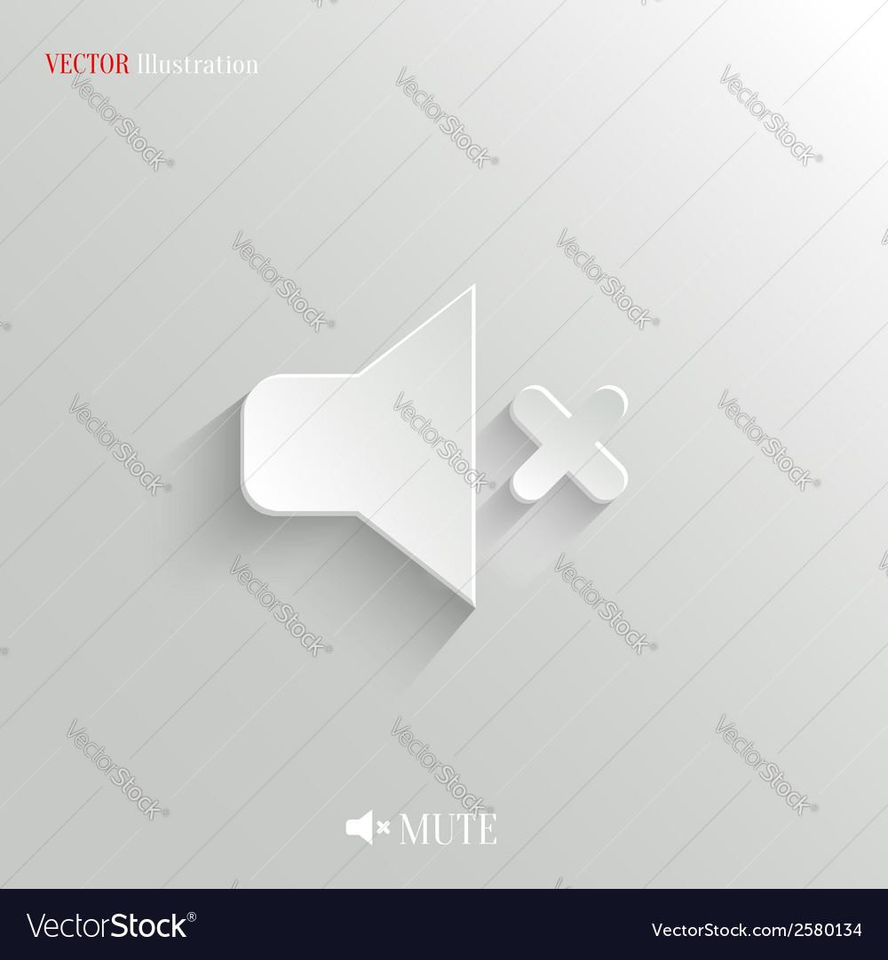 Mute icon - white app button