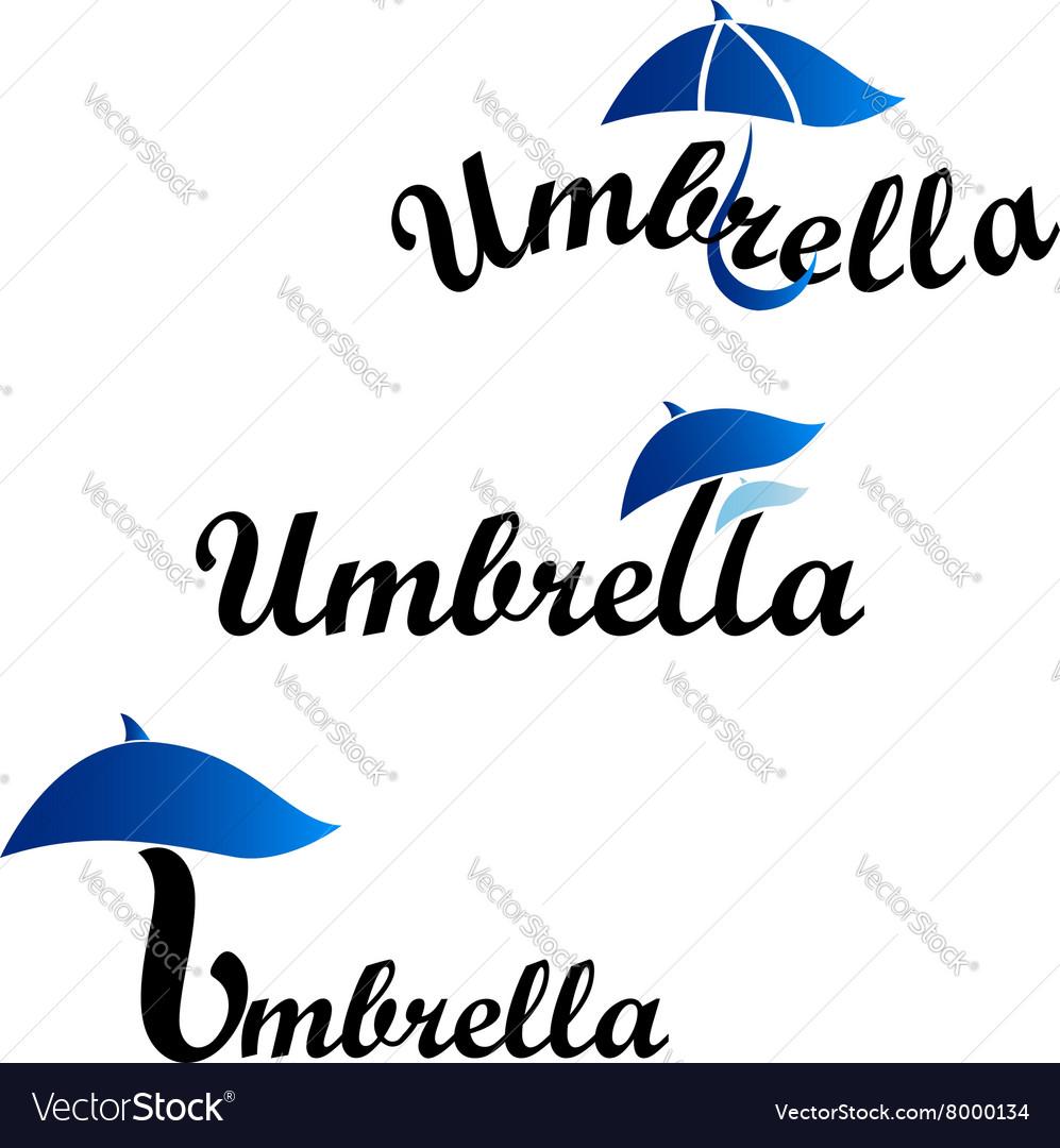 Umbrella logotype of company