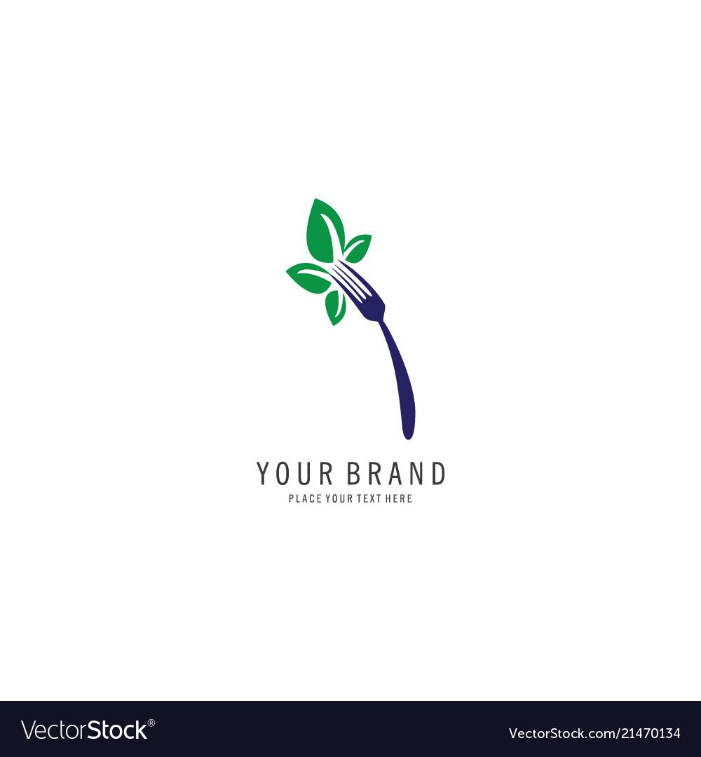 Vegan symbol logo
