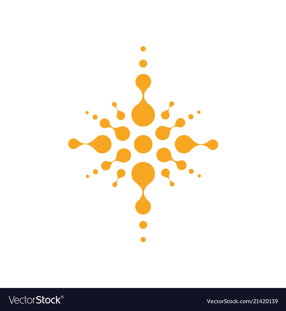 Abstract cross silhouette christian temple symbol
