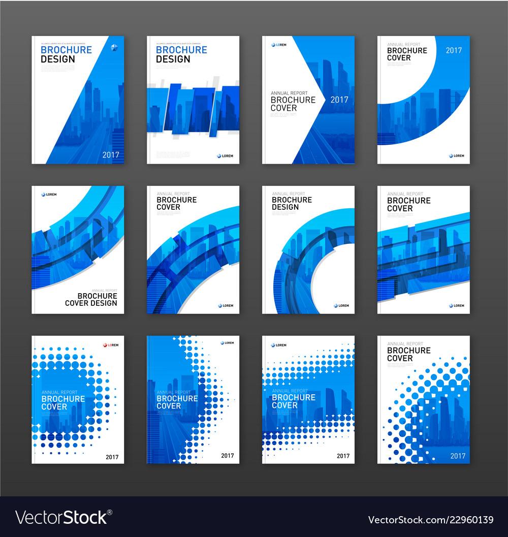 Brochure cover design layout set