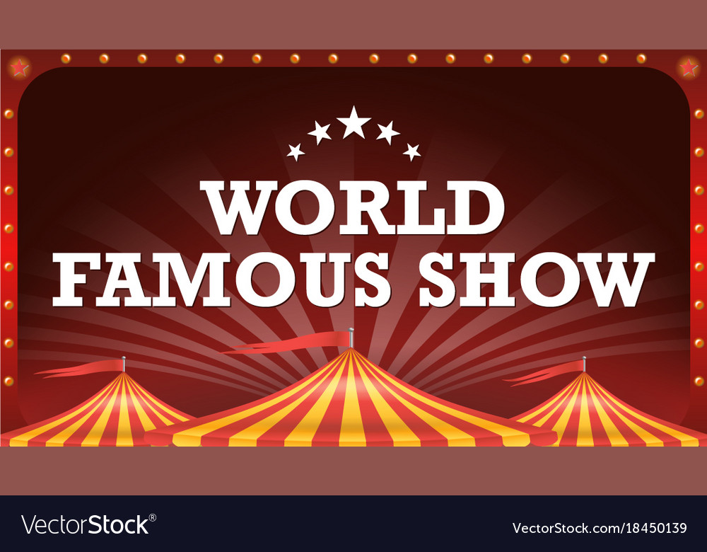 Circus poster banner vintage magic show