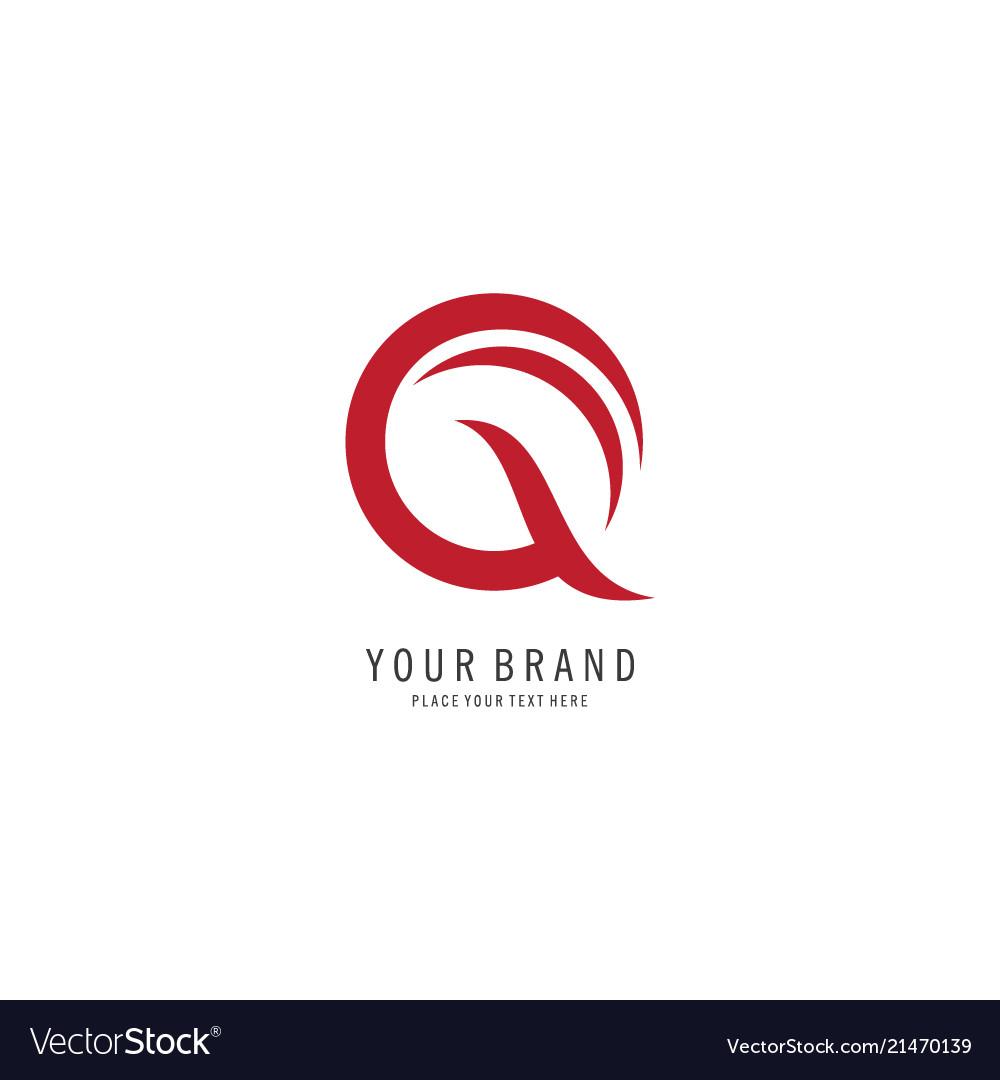 Letter q line logo