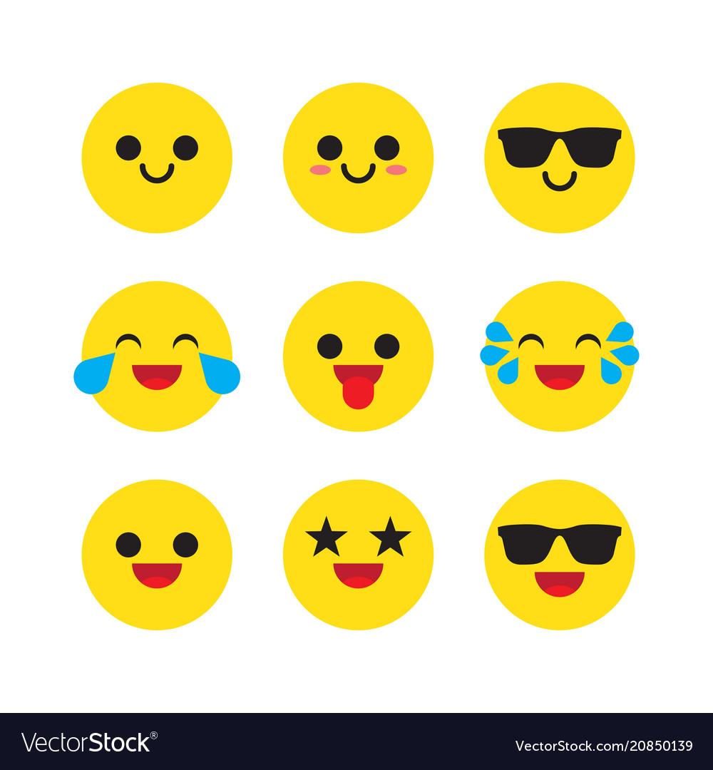 Set emoticons emoji