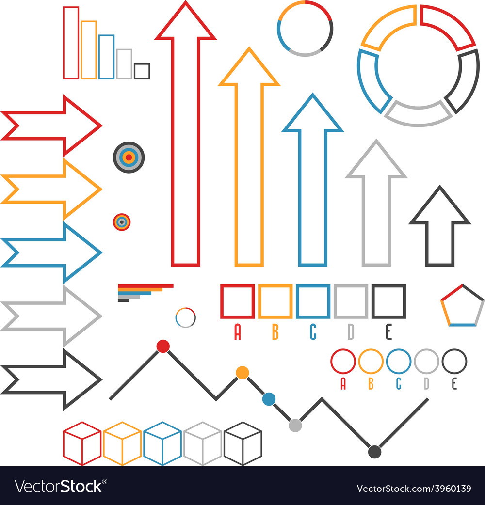 Set of infographics elements Outline
