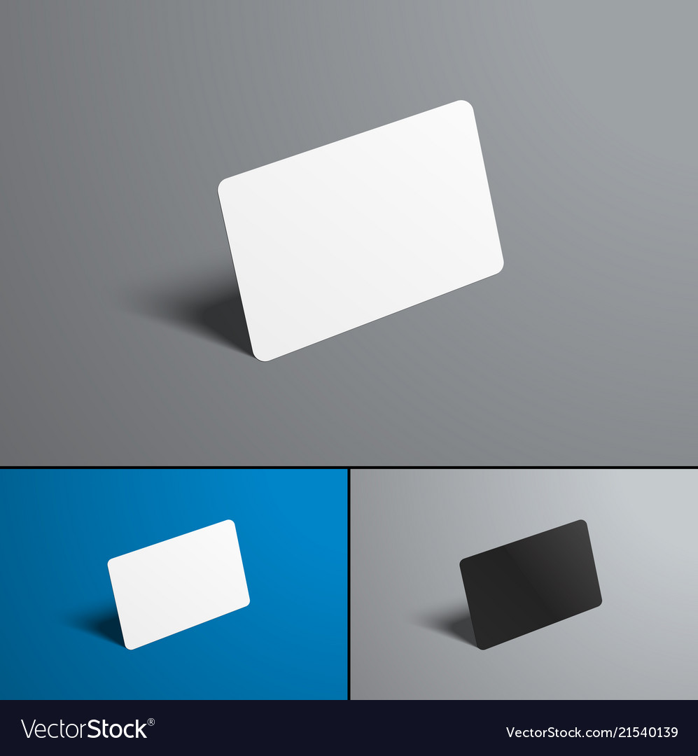 Set of mock-ups for a bank and gift card isolated