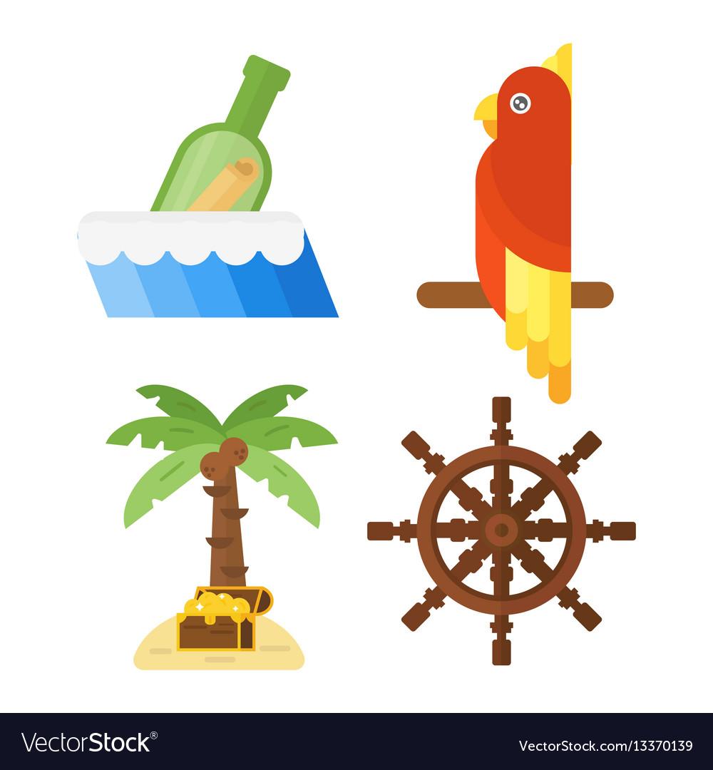Treasures pirate adventures toy accessories icons