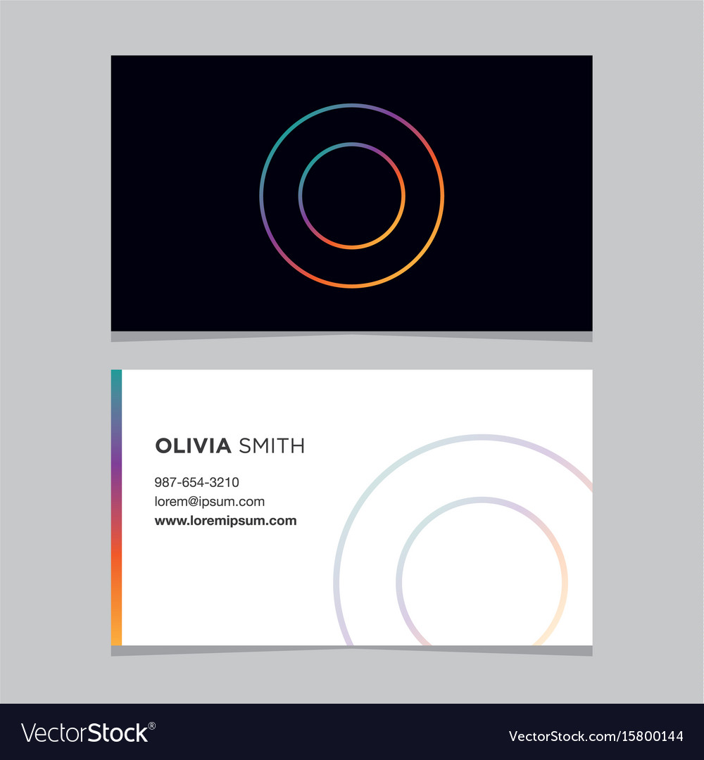 Business-card-letter-o vector image