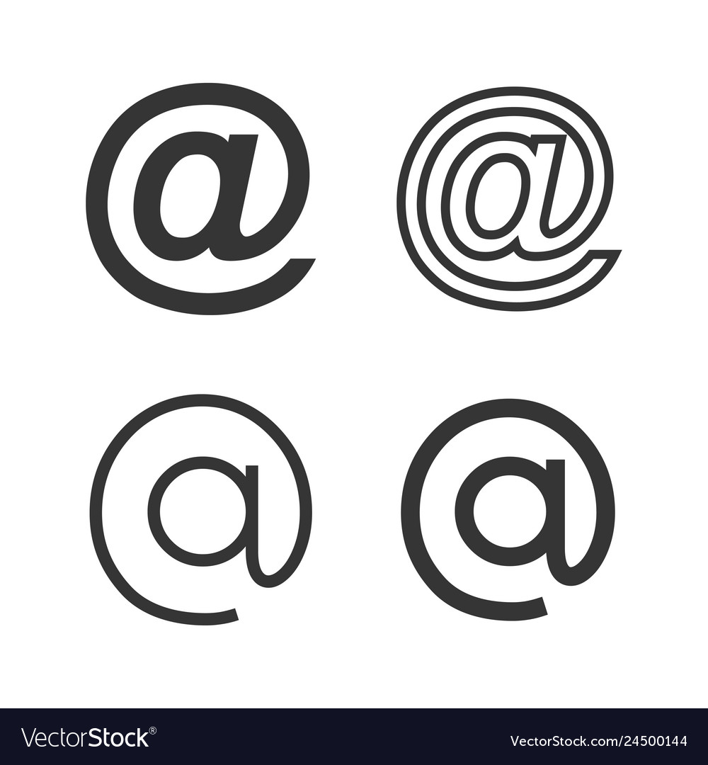 Email icons set with various style