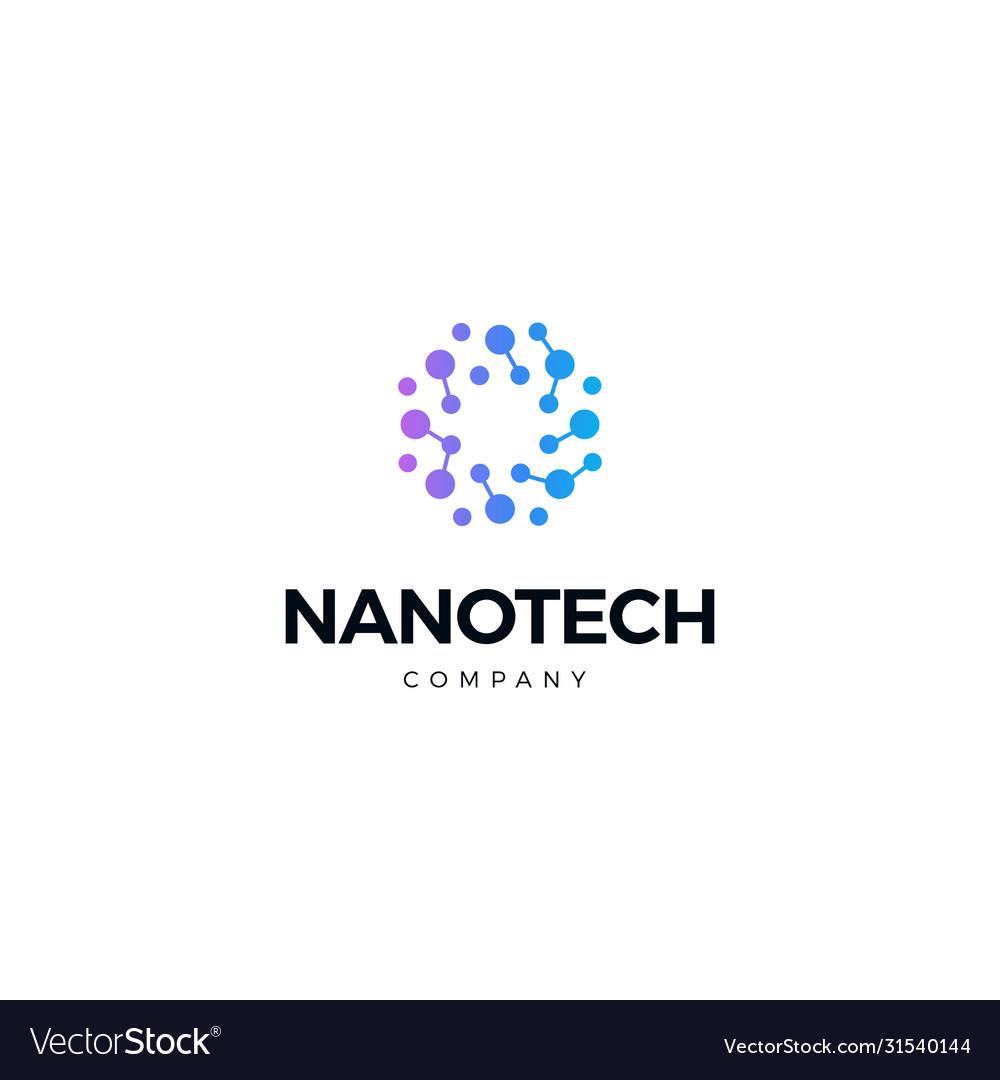 Nano technology logo atomic structure logotype