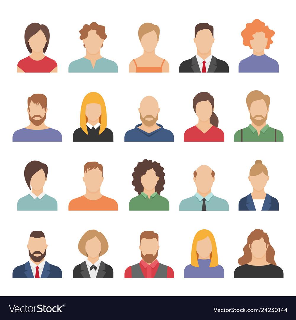 People business avatars team avatars working