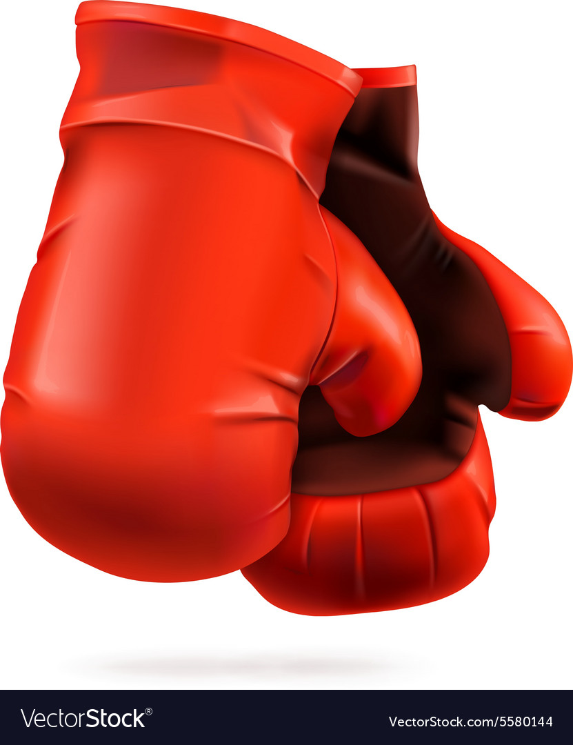 Red boxing gloves detailed