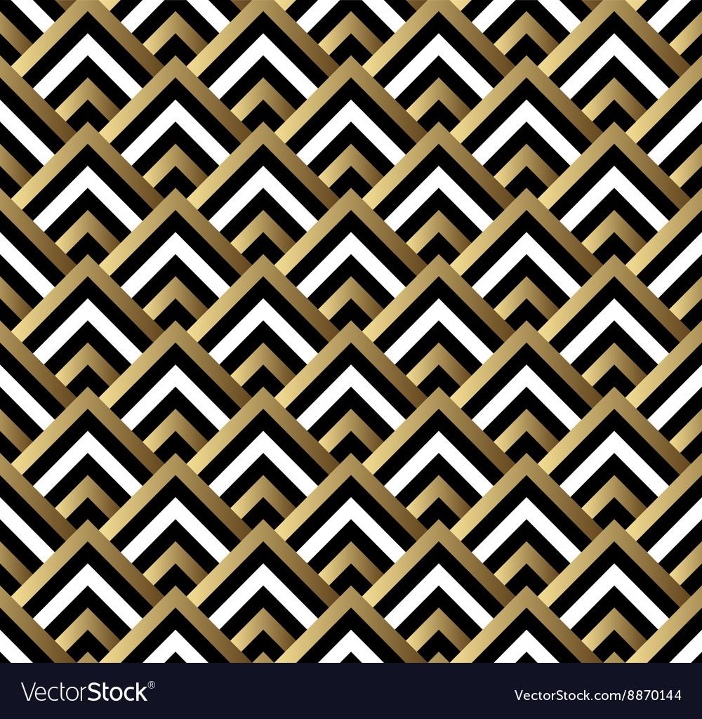 seamless black and gold square art deco pattern vector image rh vectorstock com art nouveau patterns vector art nouveau patterns vector free