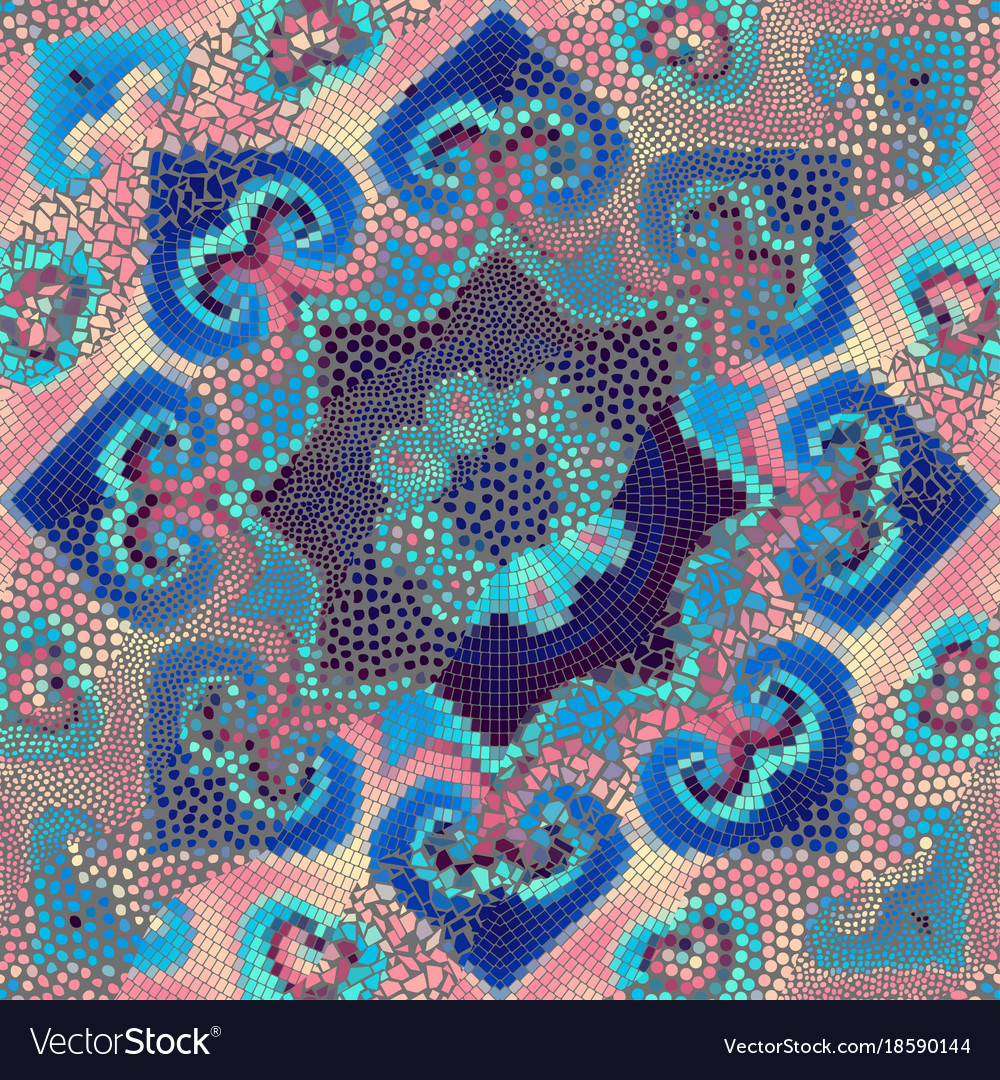 Mosaic Tile Patterns Vector Image