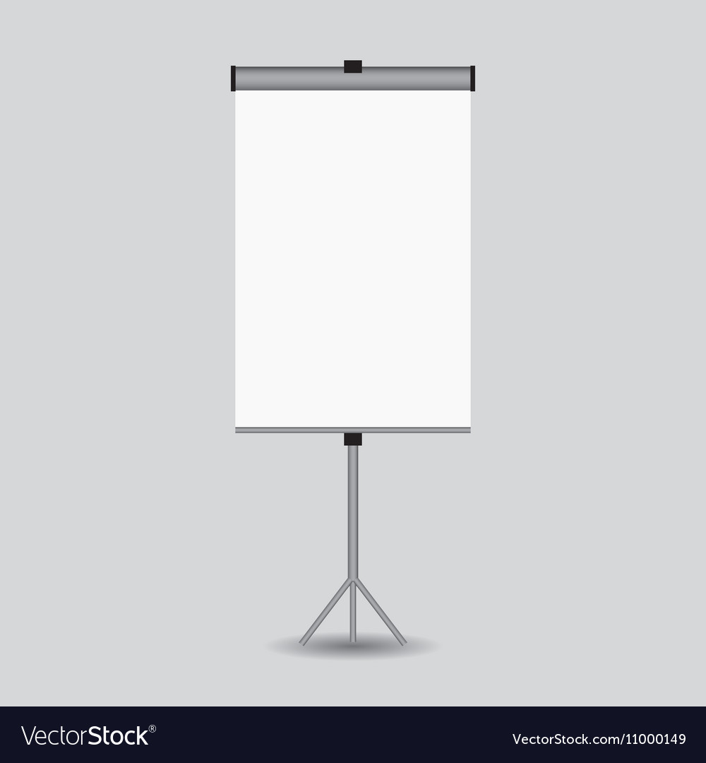 Blank paper poster on white wall eps-10