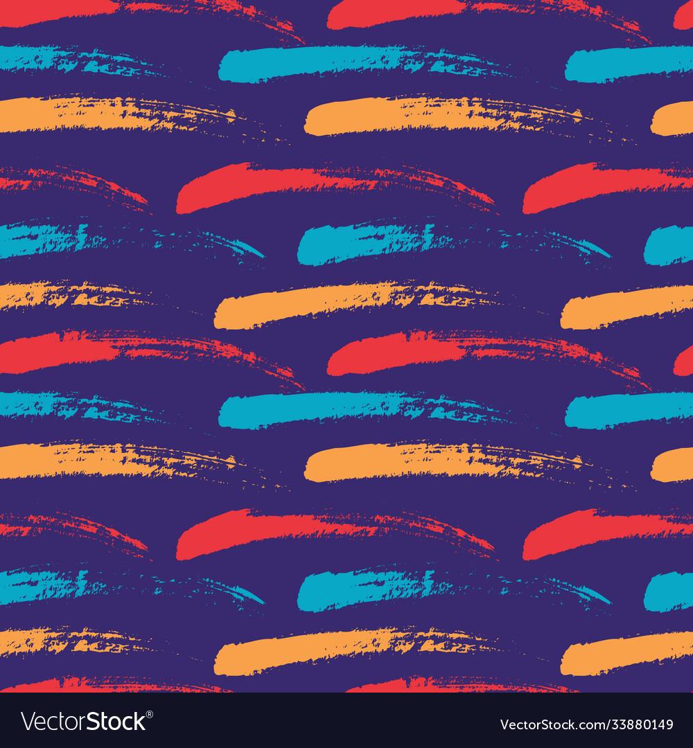 Brush strokes seamless pattern abstract grunge