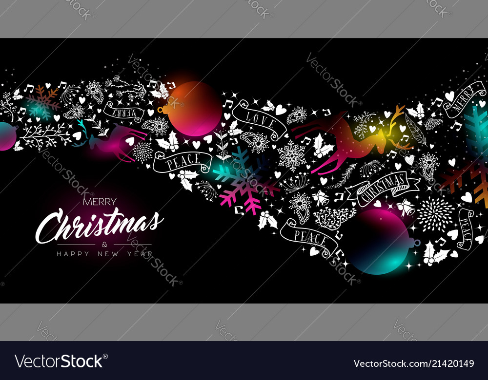 Christmas and new year glow gradient decoration