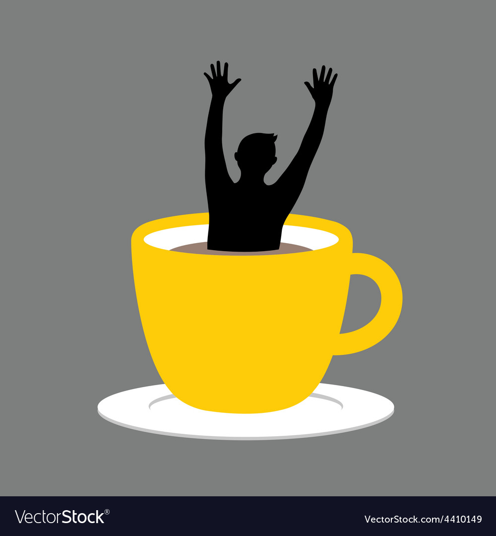 Coffee Cup Hand Up vector image