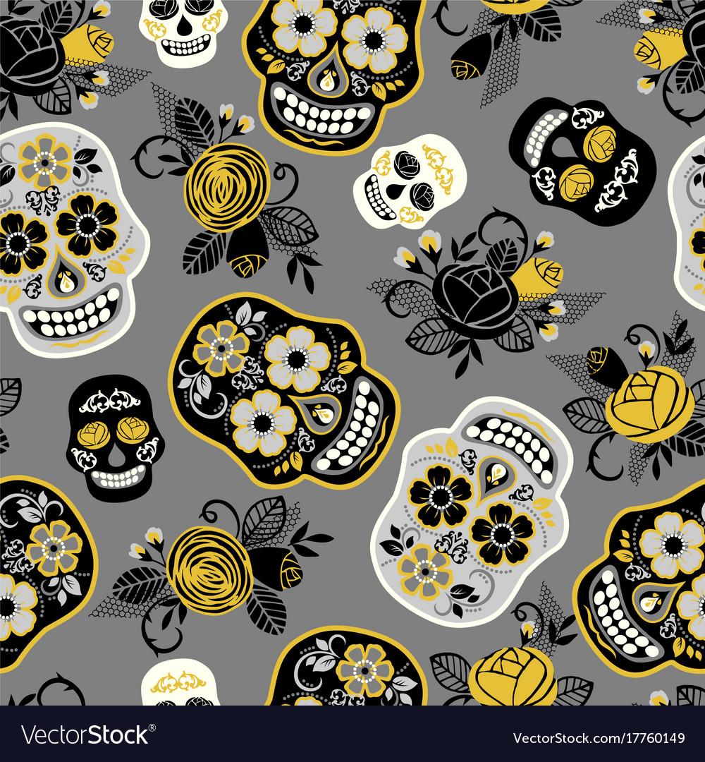 Dia de los muertos day dead seamless