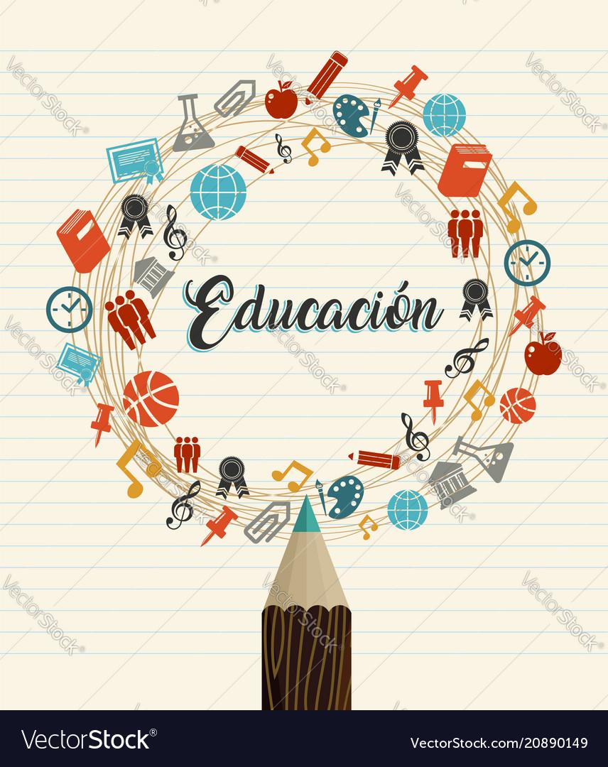 Education school quote in spanish language