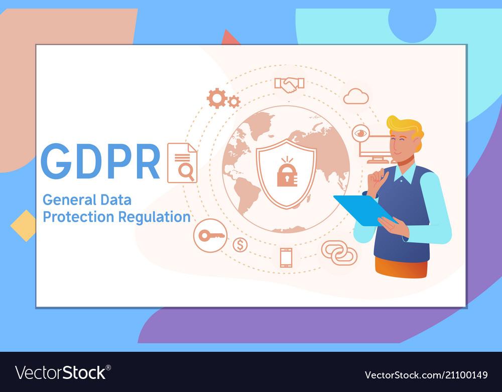 Gdpr concept general data protection regulation