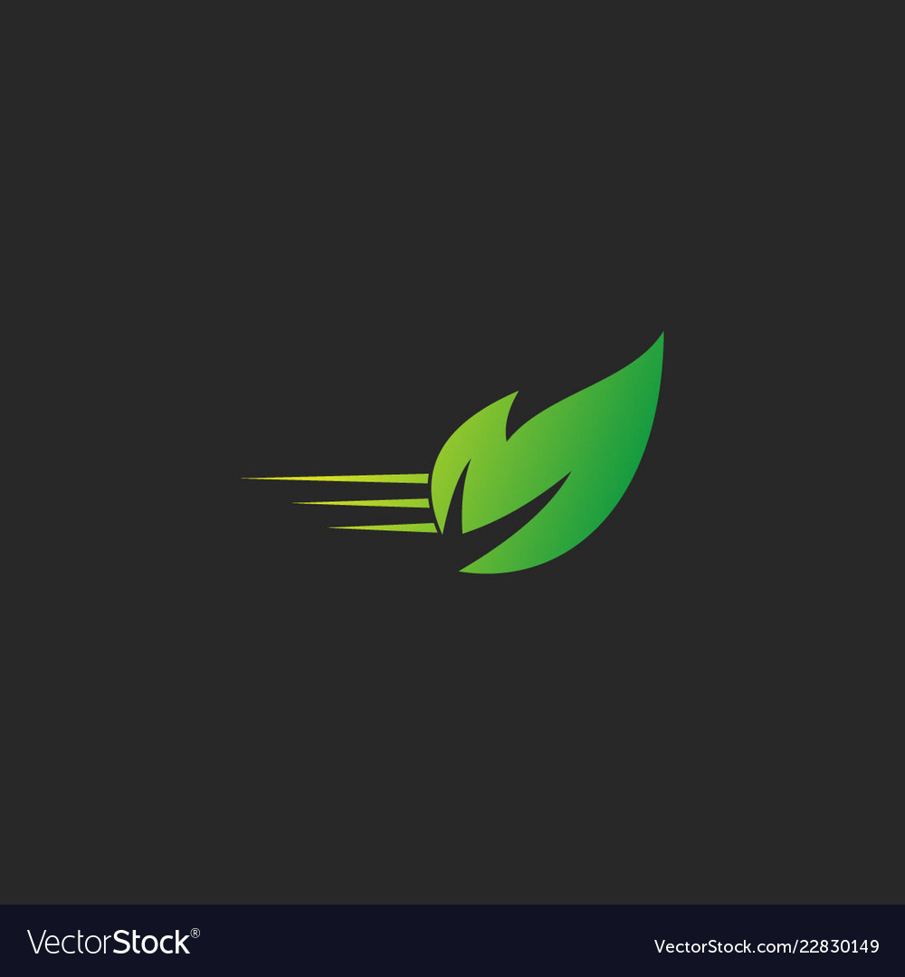 Green leaf nature organic logo