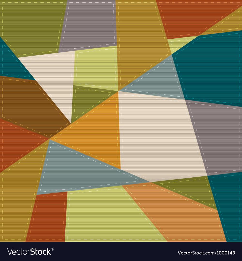 Retro geometric background