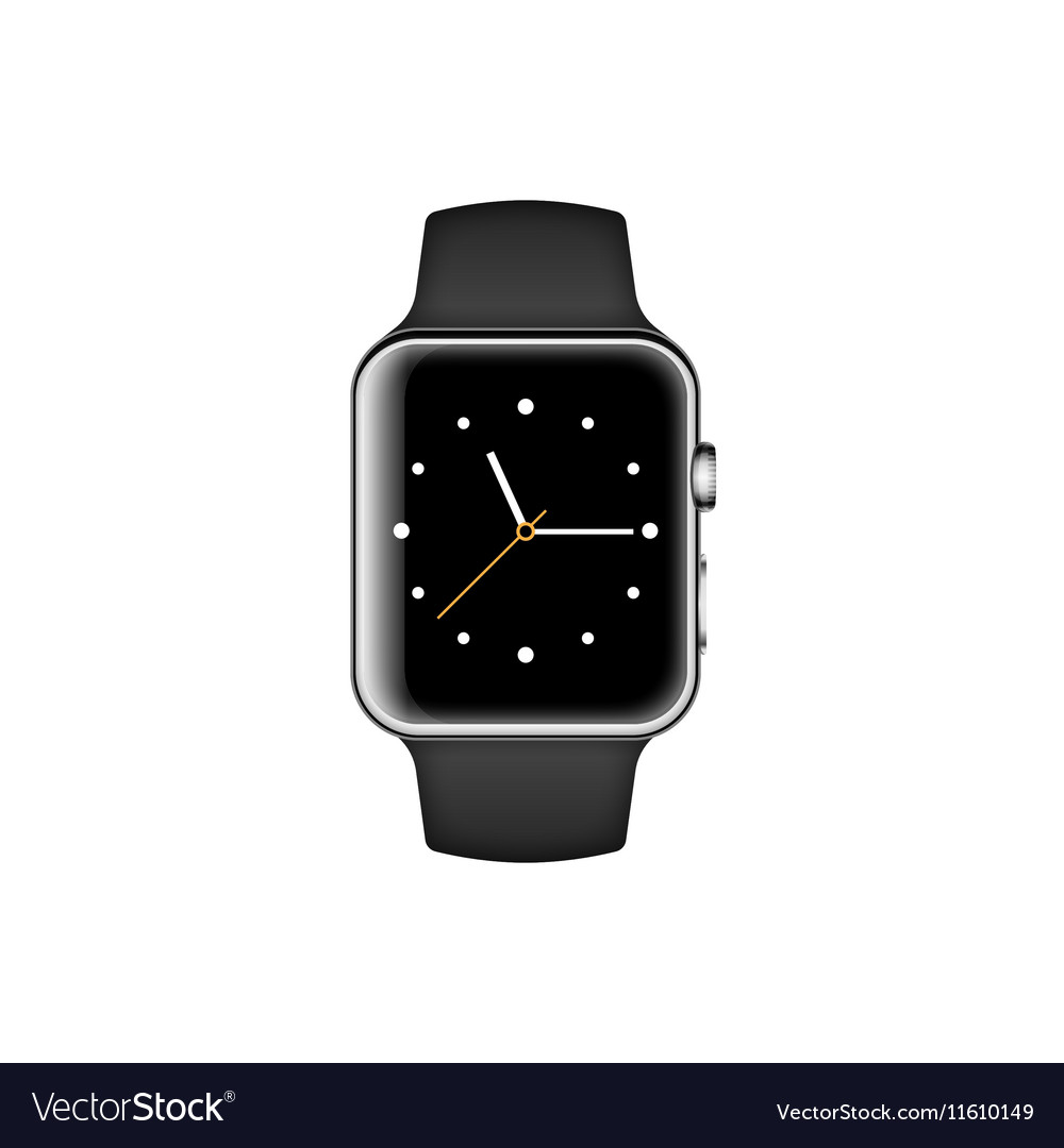 Smart watch isolated on white background vector image