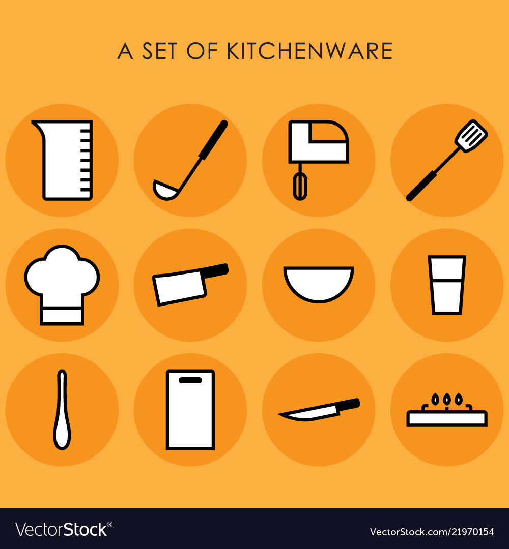 A set of kitchenware