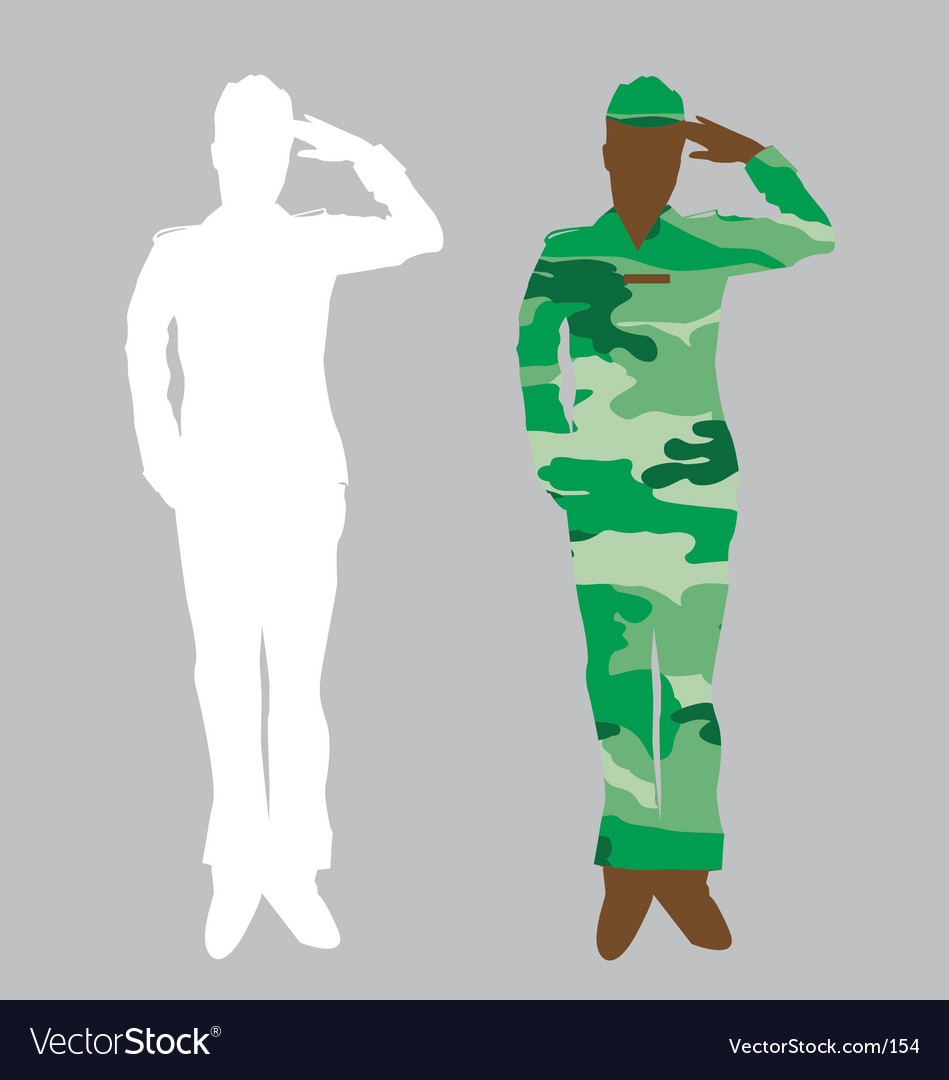 Army officer vector image