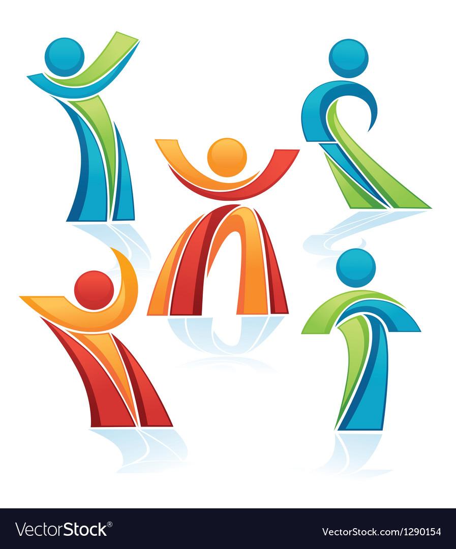 Avtive people vector image