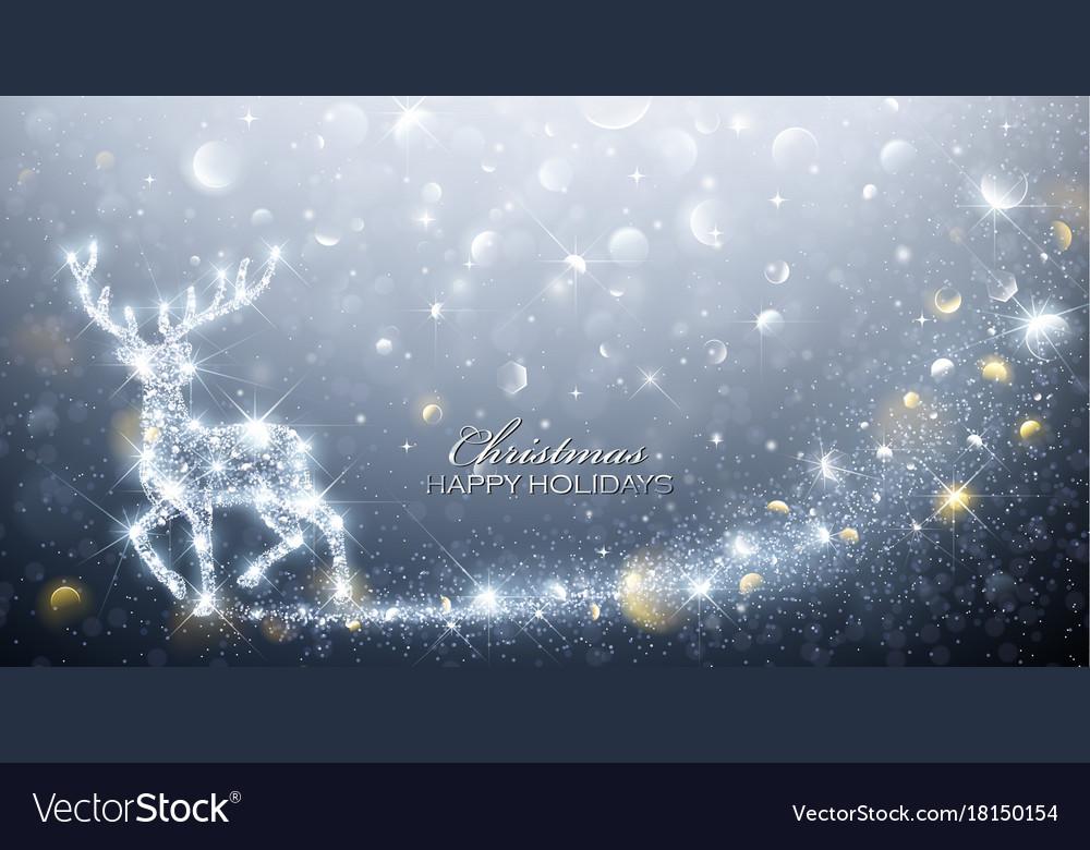 Christmas card with magic deer