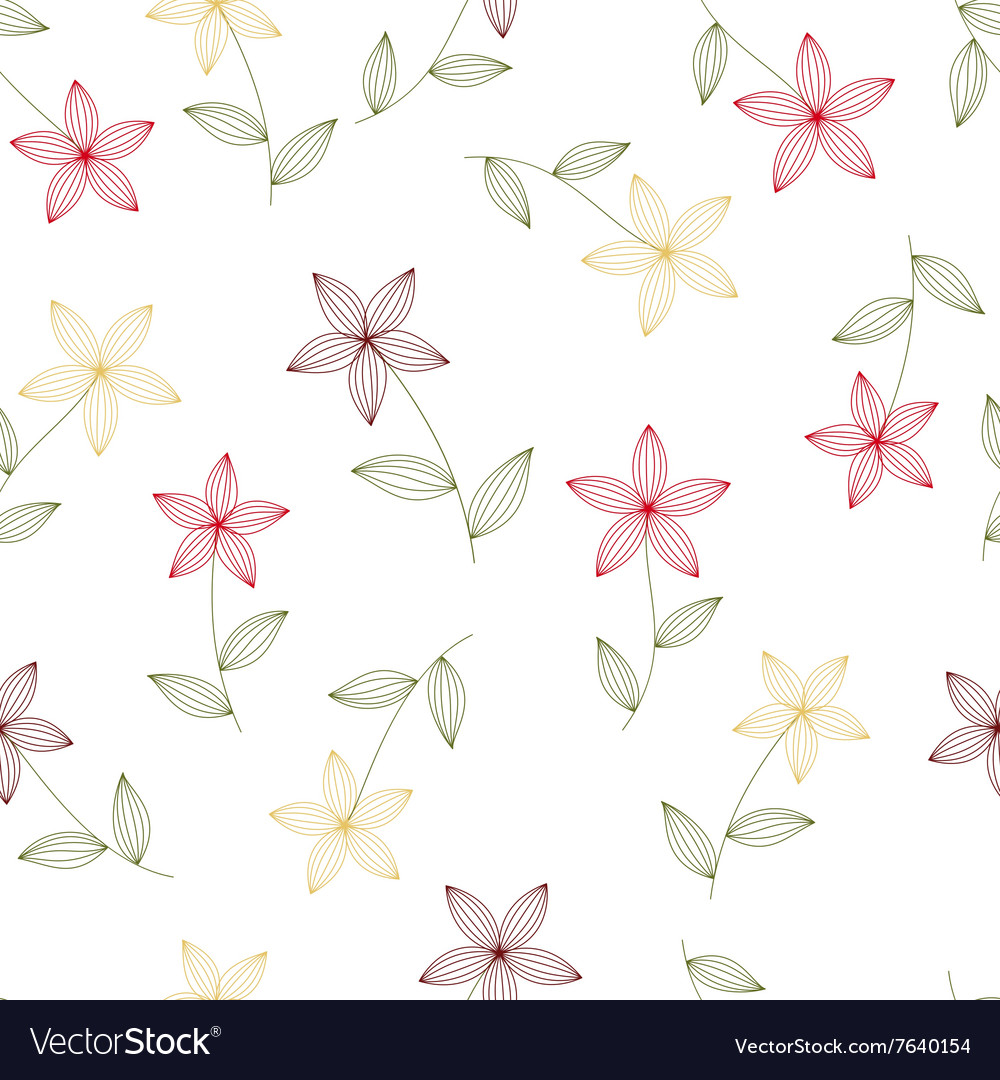 Flowers seamless isolated