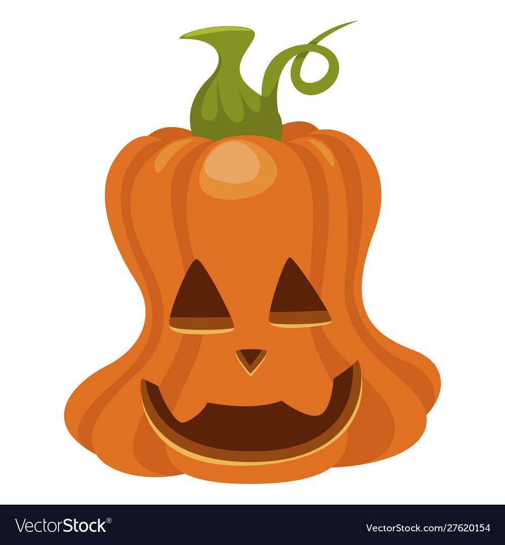Halloween pumpkin icon orange autumn holiday
