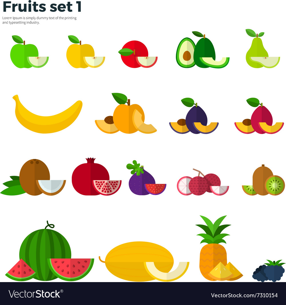 Healthy Eating Concept Fruit and Slices on White