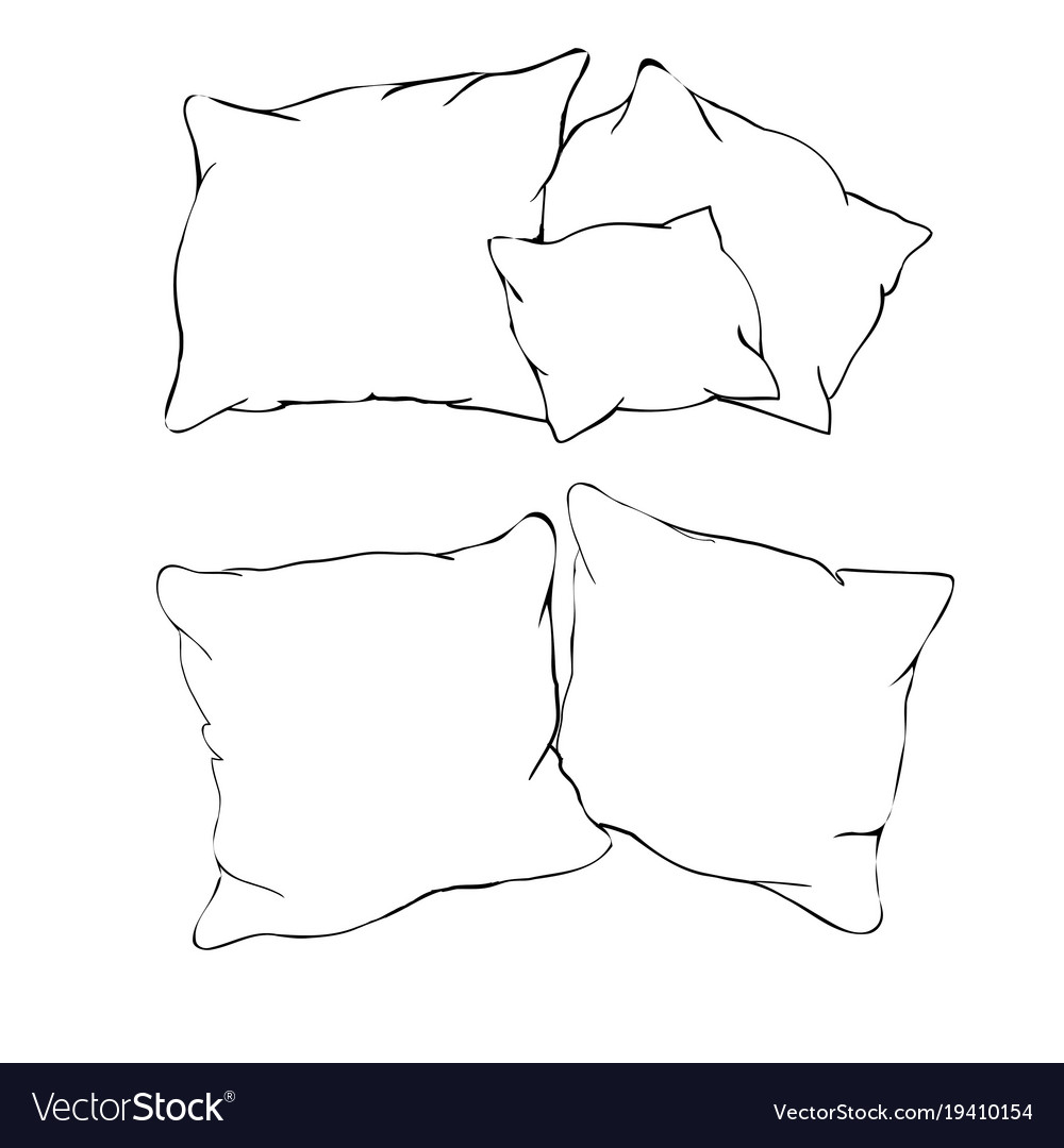 pillow drawing isometric - HD1000×1080