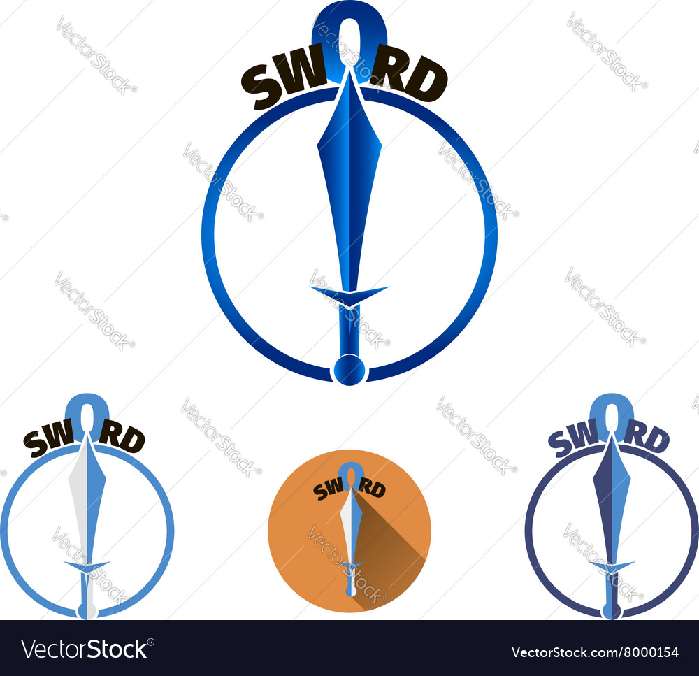 Sword logo template vector image
