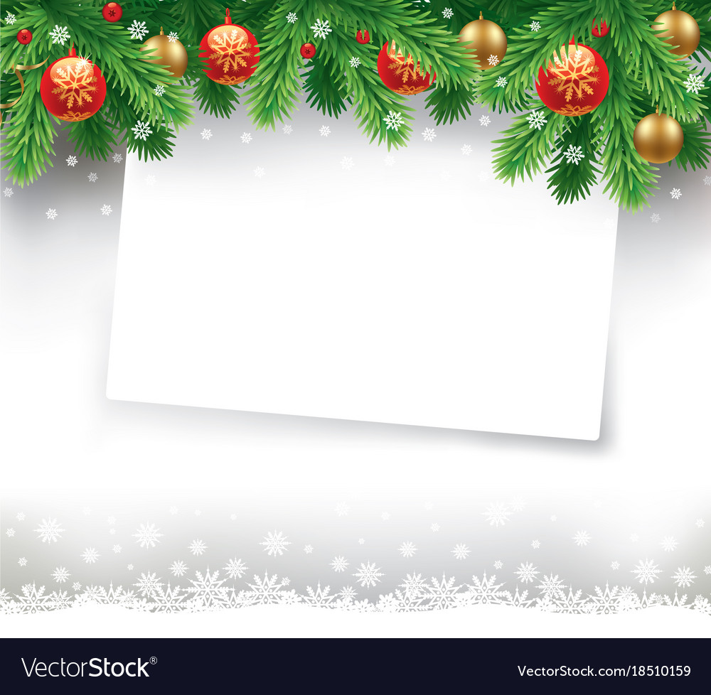christmas letter with traditional decorations vector image - Christmas Letter Decorations