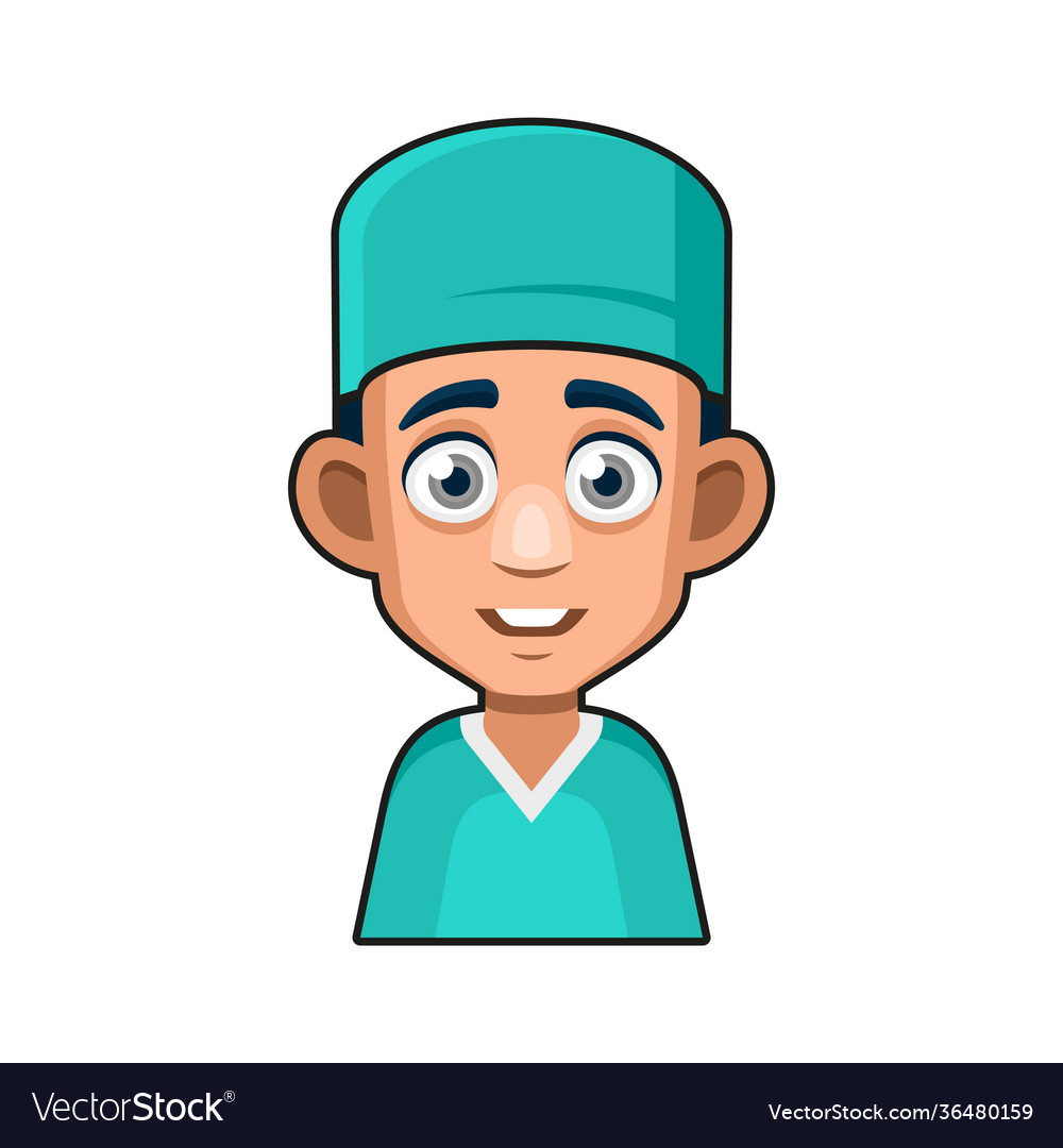 Doctor and medical nurse avatar sign cute style