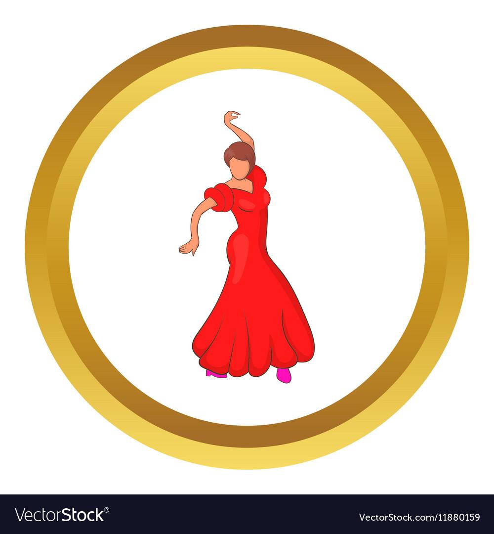 Flamenco dancer icon