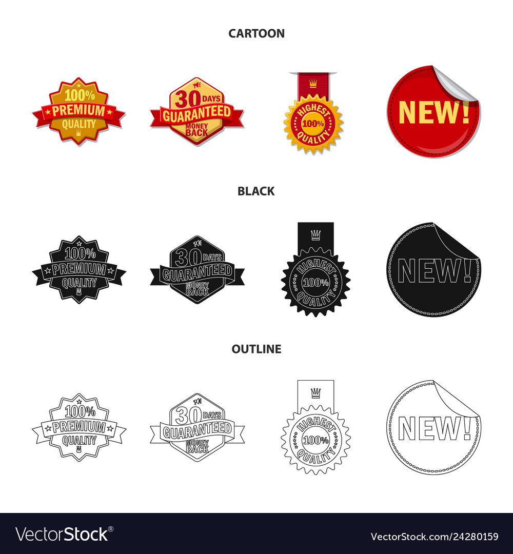 Isolated object of emblem and badge logo set of