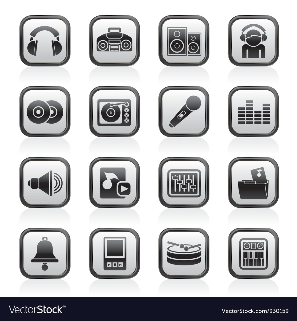 Music and sound Icons vector image