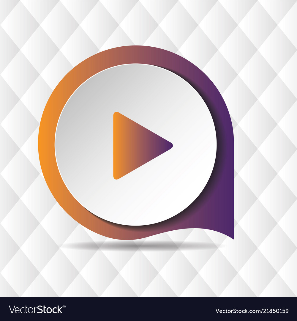 Play button icon geometric background image